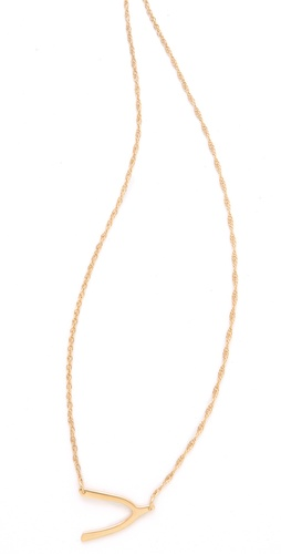 Shop Jennifer Zeuner Jewelry Mini Wishbone Necklace and Jennifer Zeuner Jewelry online - Accessories,Womens,Jewelry,Necklace, online Store