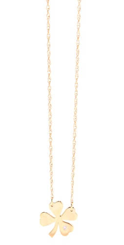 Shop Jennifer Zeuner Jewelry Clover Necklace with Diamond and Jennifer Zeuner Jewelry online - Accessories,Womens,Jewelry,Necklace, online Store