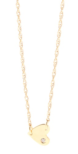 Shop Jennifer Zeuner Jewelry Heart Necklace with Diamond and Jennifer Zeuner Jewelry online - Accessories,Womens,Jewelry,Necklace, online Store