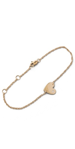 Shop Jennifer Zeuner Jewelry Heart Chain Bracelet with Diamond and Jennifer Zeuner Jewelry online - Accessories,Womens,Jewelry,Bracelet, online Store