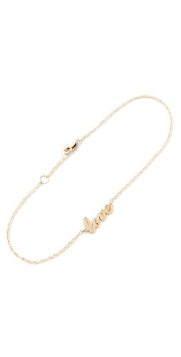 Shop Jennifer Zeuner Jewelry Love Anklet and Jennifer Zeuner Jewelry online - Accessories,Womens,Jewelry,Anklet, online Store