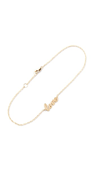 Jennifer Zeuner Jewelry Love Anklet