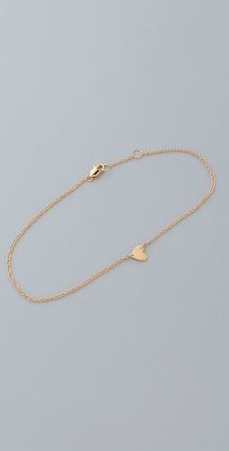 Shop Jennifer Zeuner Jewelry Heart Anklet and Jennifer Zeuner Jewelry online - Accessories,Womens,Jewelry,Anklet, online Store