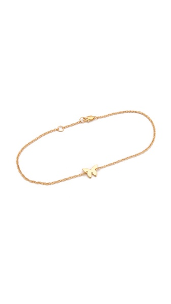 Jennifer Zeuner Jewelry Butterfly Anklet