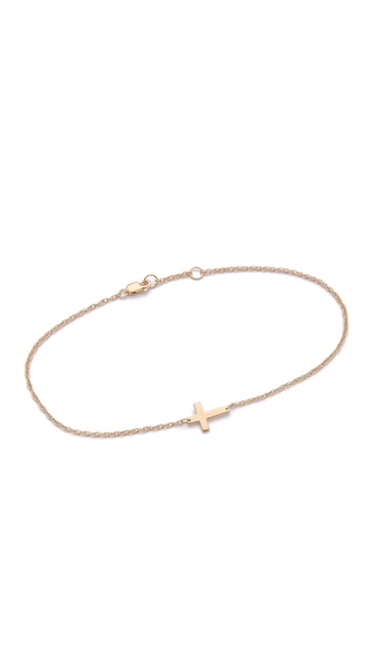 Jennifer Zeuner Jewelry Cross Anklet