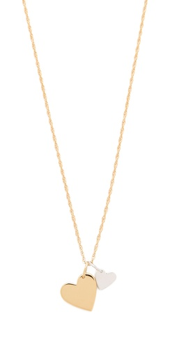 Shop Jennifer Zeuner Jewelry Mattea Double Heart Necklace and Jennifer Zeuner Jewelry online - Accessories,Womens,Jewelry,Necklace, online Store