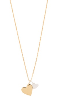 Jennifer Zeuner Jewelry Mattea Double Heart Necklace
