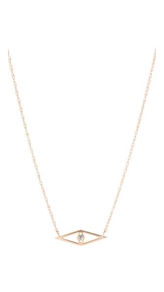 Jennifer Zeuner Jewelry Raquel Horizontal Eye Necklace