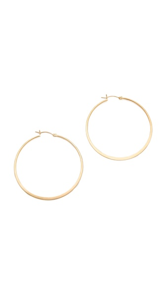 Jennifer Zeuner Jewelry Small Hoop Earrings