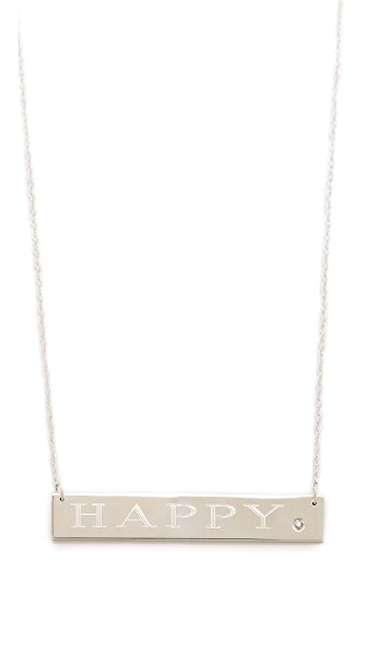 Jennifer Zeuner Jewelry Happy Necklace with Diamond