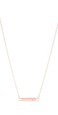 Jennifer Zeuner Jewelry Chelsea Mini Bar Necklace with Diamond