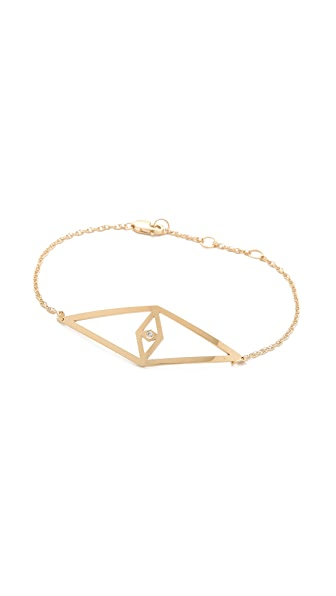 Jennifer Zeuner Jewelry Diamond Eye Bracelet