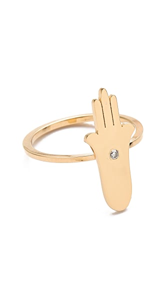 Jennifer Zeuner Jewelry Hamsa Diamond Ring