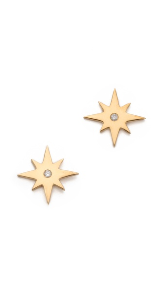 Jennifer Zeuner Jewelry Starburst Diamond Earrings