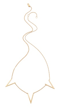 Jennifer Zeuner Jewelry Triple Open Triangle Necklace