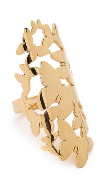 Jennifer Zeuner Jewelry Butterfly Cluster Ring