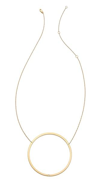 Jennifer Zeuner Jewelry Large Circle Diamond Pendant Necklace
