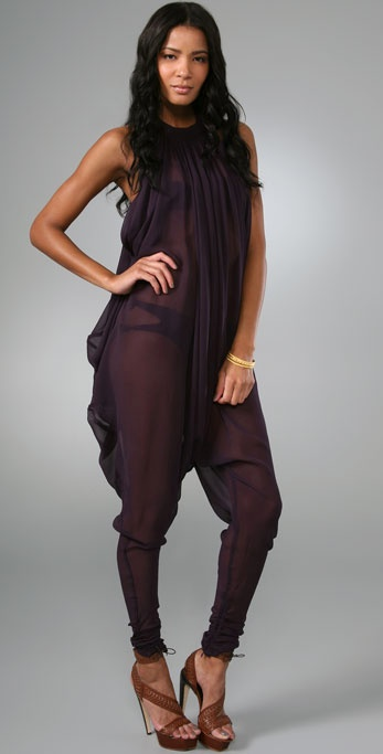 Zimmermann Papillon Drape Jumpsuit Cover Up