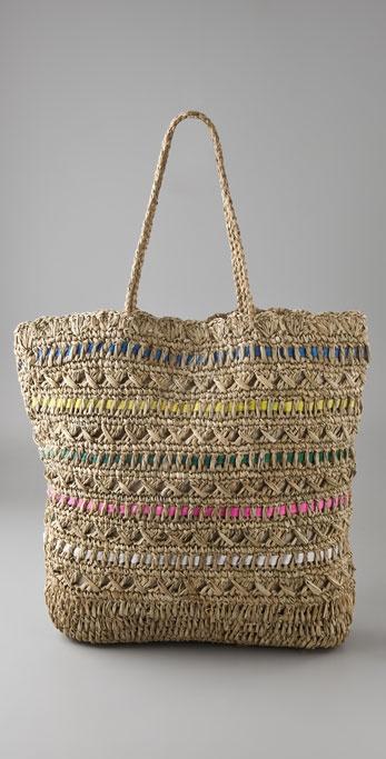 Zimmermann Straw Bag with Ribbon