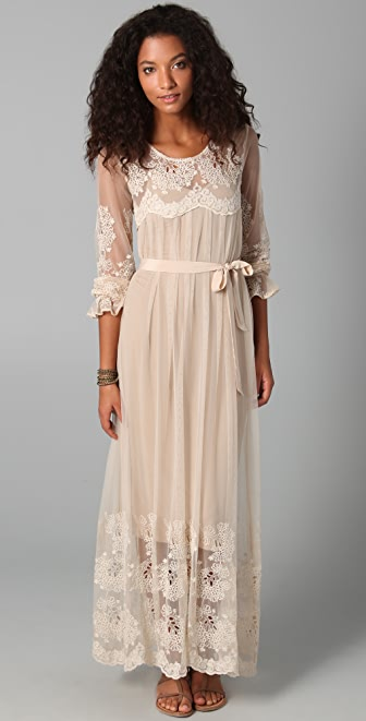 Zimmermann Trivial Embroidered Maxi Dress