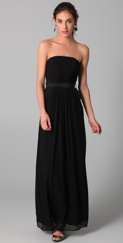 Zimmermann Ruched Strapless Maxi Dress