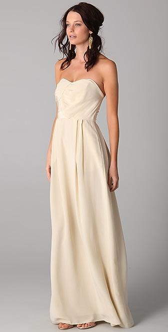 Zimmermann Strapless Tucked Maxi Dress