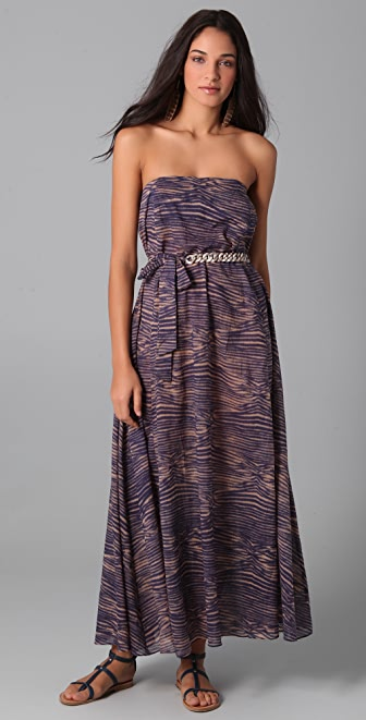 Zimmermann Dreamer Strapless Chain Maxi Dress