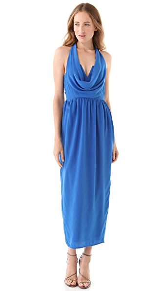 Zimmermann Halter Drape Dress