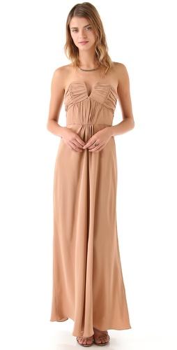 Zimmermann Ruched Strapless Gown
