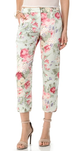 Shop Zimmermann Chill Floral Pants and Zimmermann online - Apparel,Womens,Bottoms,Pants,Trousers, online Store