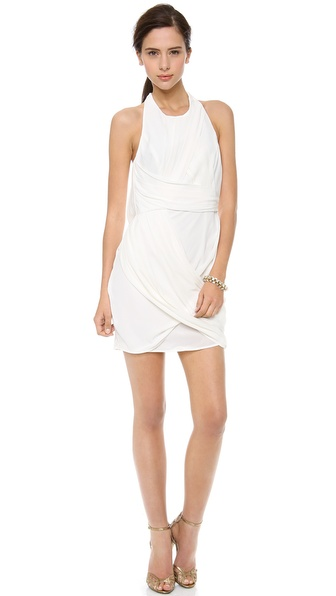 Zimmermann Back Drape Dress - White
