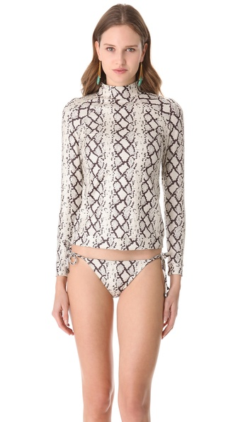 Zimmermann Flourishing Snake Rash Guard Top