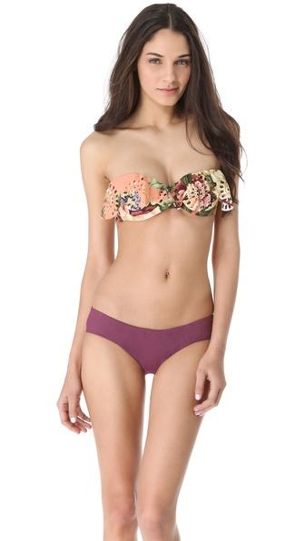 Zimmermann Elixir Lace Frill Bandeau Bikini