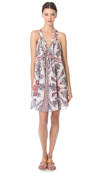 Zimmermann Runaway V Neck Cover Up Dress