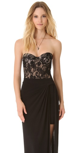 Zimmermann Independent Lace Bustier Bodysuit