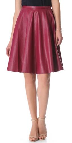 Zimmermann Dazed Leather Skirt