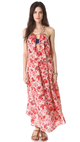 Zimmermann Oasis Choker Swing Cover Up Dress