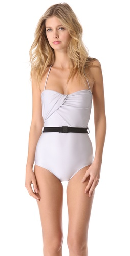 Zimmermann Vapor Drape One Piece Swimsuit