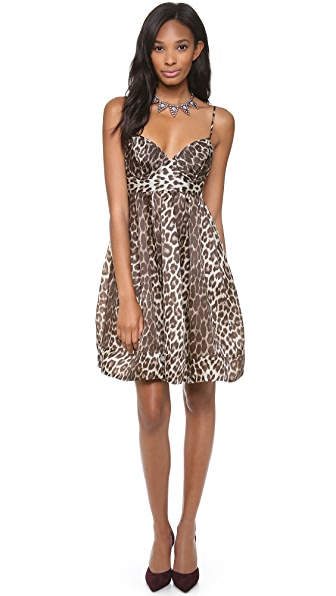Zimmermann Honour Leopard Umbrella Dress