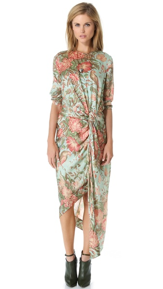 Zimmermann Honour Twist Knot Drape Dress