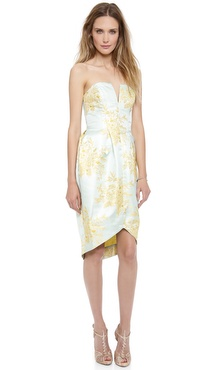 Zimmermann Valiant Inverted Brocade Dress