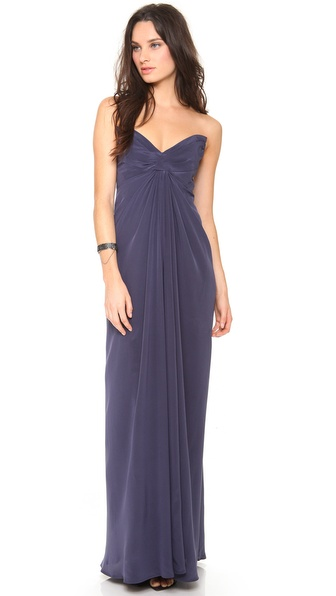 Zimmermann Twist Strapless Gown