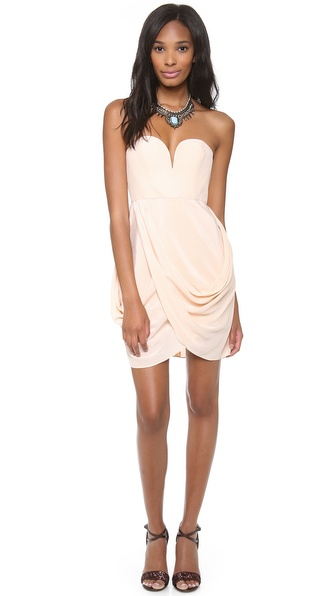 Zimmermann Strapless Drape Dress