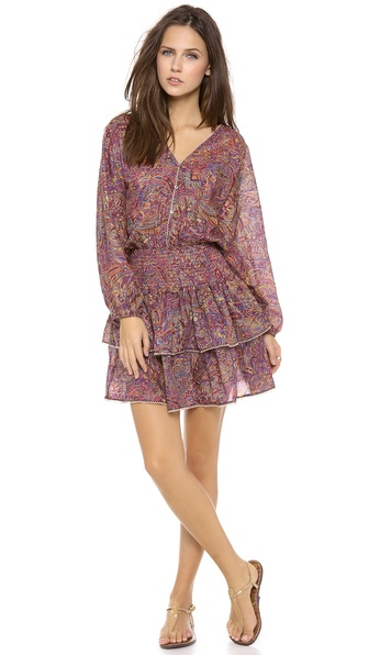 Zimmermann Instinct Shirred Cover Up Dress