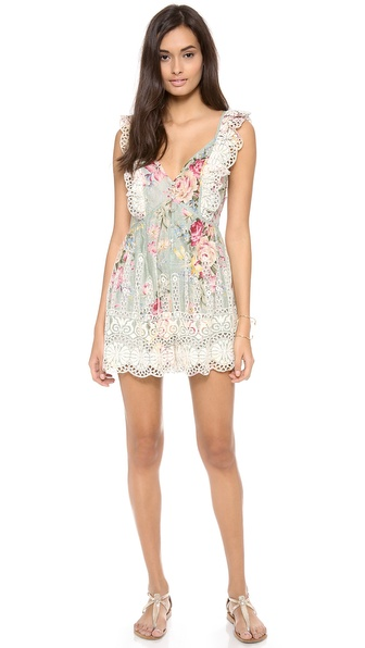 Zimmermann Sundance Embroidered Playsuit
