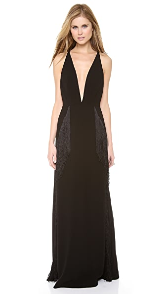 Zimmermann Good Love Deep V Quill Dress