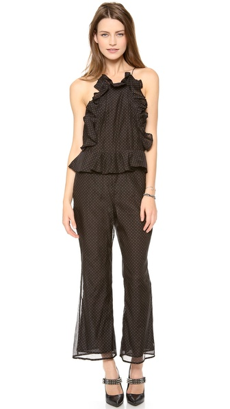 Zimmermann Good Love Pinafore Jumpsuit