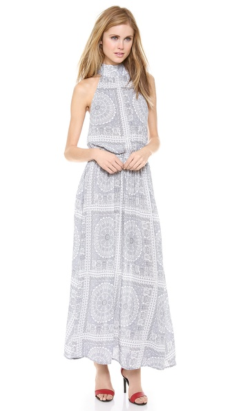 Zimmermann Funnel Neck Maxi Dress