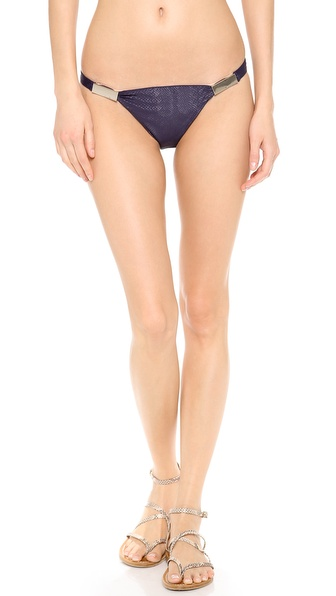 Zimmermann Navy Snake Low Link Bikini Bottoms - Navy Snake
