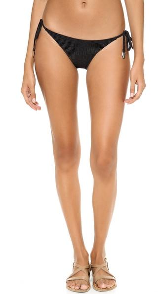 Zimmermann Black Dot Tie Side Bikini Bottoms